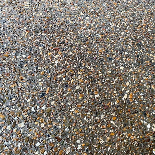 Exposed aggregate sealed
