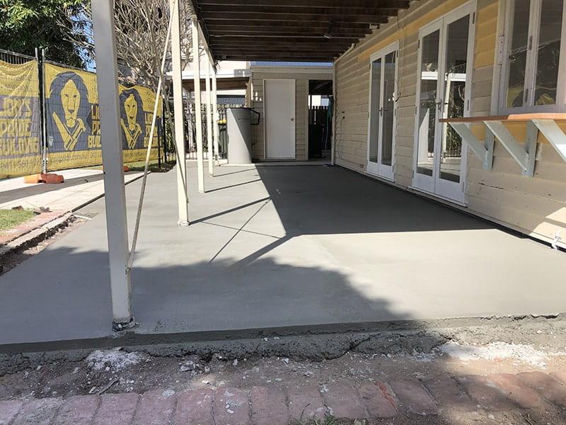 Plain concrete patio