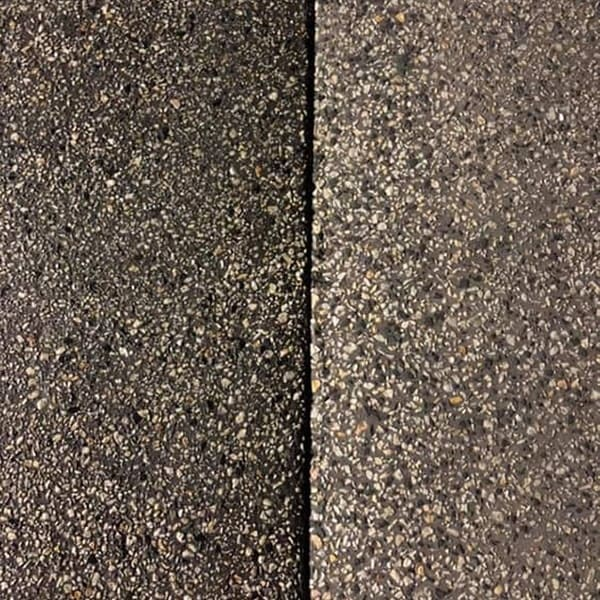 Sealed versus unsealed exposed aggregate