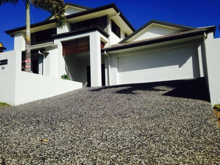 Exposed aggregate concrete Brisbane