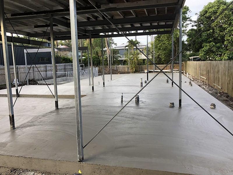 Under house concrete slab finished