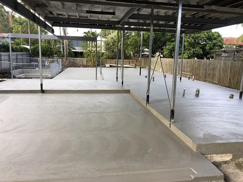 Under house concrete slab